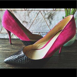 EUC • Signature by ShoeDazzle • Pink & Black Heel
